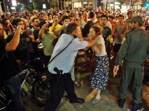 משטרת ישראל מפגינה את כוחה