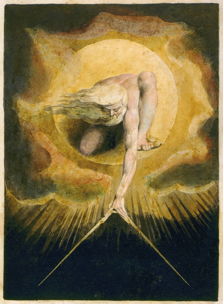 William Blake Paintings God Ancient of days